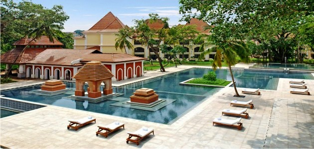 Bird's Eye View of the pool at The Grand Hyatt Goa